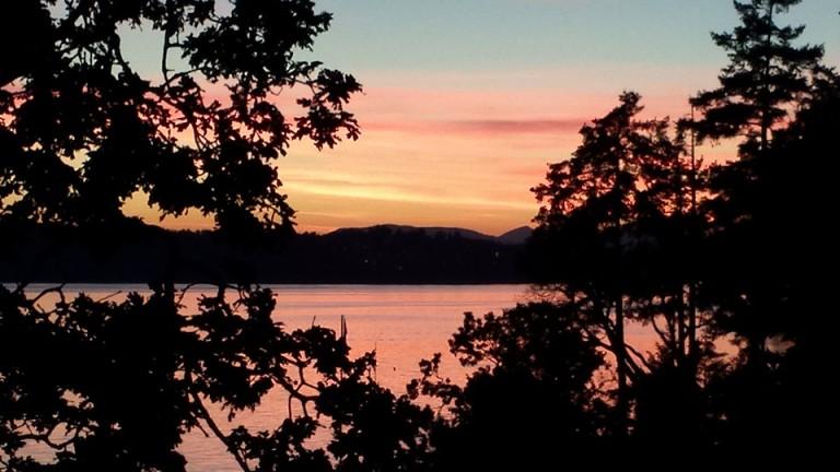 sunset on madrona bay